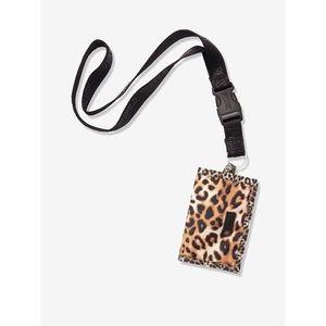 VS PINK Leopard Print Wallet Lanyard 🐆